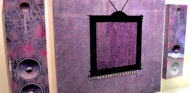"Electronic Heroin Series ""Purple Label Triptych"""