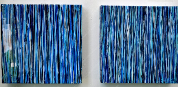 "Drizzle Series ""Azul Diptych"""